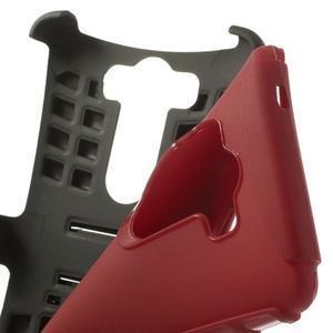 Outdoor odolný obal na mobil LG G3 - červený - 7