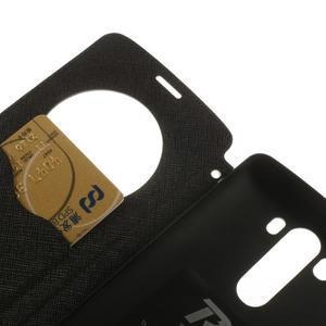 Diary puzdro s okienkom na mobil LG G3 - čierne - 7