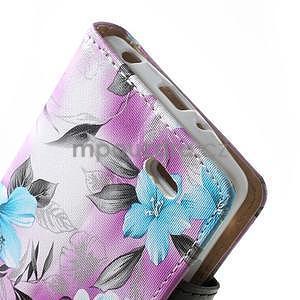 Elegantné lilie peňaženkové puzdro na LG G3 s - fialové - 7