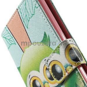 Zapínací peňaženkové puzdro pre LG G3 s - ptáček - 7