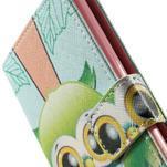 Zapínací peňaženkové puzdro pre LG G3 s - ptáček - 7/7
