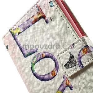 Zapínací peňaženkové puzdro pre LG G3 s - love - 7