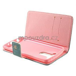 Zapínací peňaženkové puzdro pre LG G3 s - srdce - 7