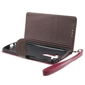 Leaf peňaženkové puzdro pre mobil LG G4 - rose - 7