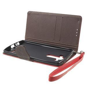 Leaf peněženkové pouzdro na mobil LG G4 - červené - 7