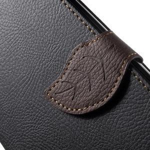 Leaf peňaženkové puzdro pre mobil LG G4 - čierne - 7