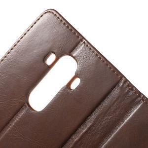 Luxury PU kožené puzdro pre mobil LG G4 - hnedé - 7