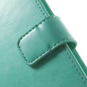 Luxury PU kožené puzdro pre mobil LG G4 - cyan - 7
