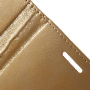 Luxury PU kožené puzdro pre mobil LG G4 - zlaté - 7