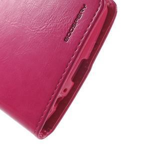 Luxury PU kožené puzdro pre mobil LG G4 - rose - 7