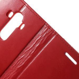 Luxury PU kožené pouzdro na mobil LG G4 - červené - 7