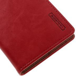 Luxury PU kožené pouzdro na mobil LG G5 - červené - 7