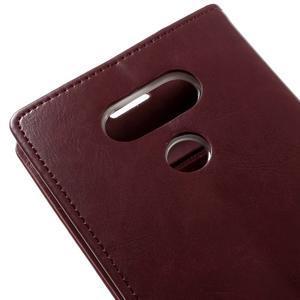 Luxury PU kožené pouzdro na mobil LG G5 - vínově červené - 7