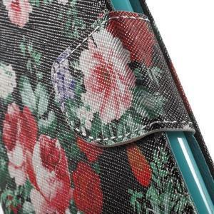 Wall peňaženkové puzdro pre LG G5 - kvetiny - 7