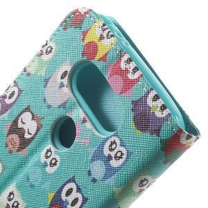 Wall peňaženkové puzdro pre LG G5 - malej sovy - 7
