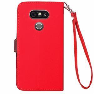 Leaf PU kožené pouzdro na LG G5 - červené - 7