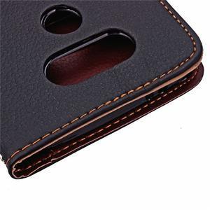 Leaf PU kožené puzdro pre LG G5 - čierne - 7