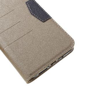 Klopové peňaženkové puzdro pre LG G5 - zlaté - 7