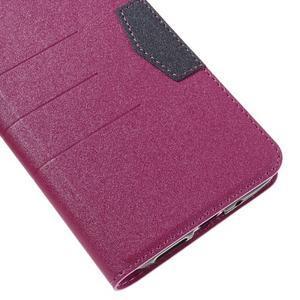 Klopové peneženko puzdro pre LG G5 - rose - 7
