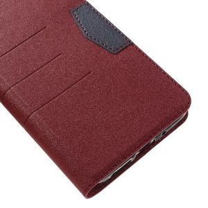 Klopové peneženkové pouzdro na LG G5 - červené - 7