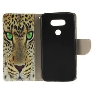 Obrázkové koženkové puzdro pre LG G5 - mačička - 7