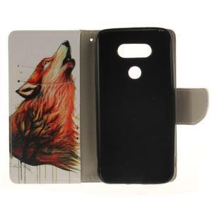 Obrázkové koženkové puzdro pre LG G5 - vlk - 7