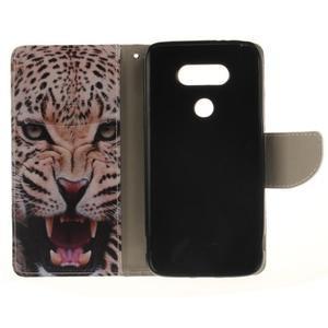 Obrázkové koženkové pouzdro na LG G5 - leopard - 7
