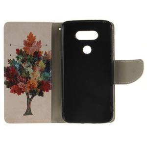 Obrázkové koženkové puzdro pre LG G5 - farebný strom - 7