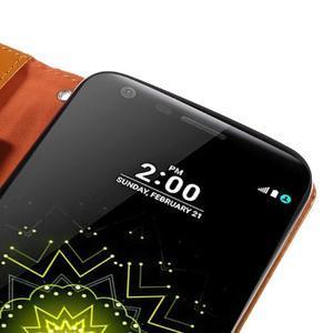 Wax peňaženkové puzdro pre LG G5 - oranžové - 7