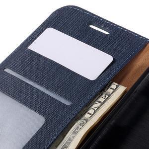 Cloth koženkové peňaženkové puzdro pre LG G5 - tmavomodré - 7