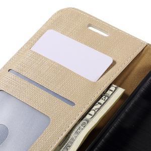 Cloth koženkové peněženkové pouzdro na LG G5 - béžové - 7
