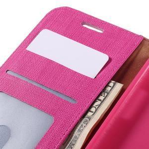 Cloth koženkové peňaženkové puzdro pre LG G5 - rose - 7