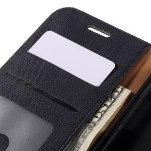 Cloth koženkové peňaženkové puzdro pre LG G5 - čierne - 7