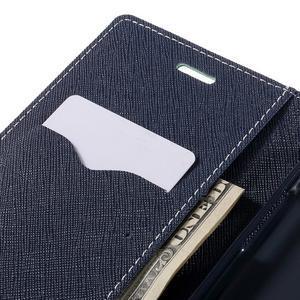 Goos stylové PU kožené pouzdro na LG G5 - cyan - 7