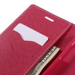 Goos stylové PU kožené puzdro pre LG G5 - ružové - 7