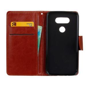 Lees peňaženkové puzdro pre LG G5 - hnedé - 7