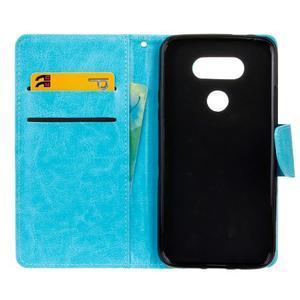 Lees peňaženkové puzdro pre LG G5 - modré - 7