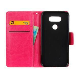 Lees peněženkové pouzdro na LG G5 - rose - 7