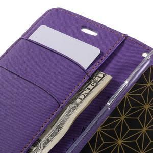 Diary PU kožené puzdro pre mobil LG G5 - fialové - 7