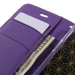 Diary PU kožené puzdro pre mobil LG G5 - fialové - 7/7