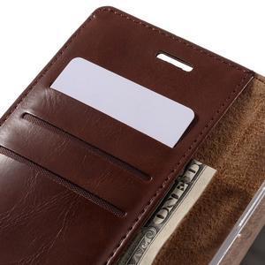 Luxury PU kožené puzdro pre mobil LG G5 - hnedé - 7