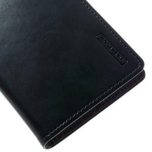 Luxury PU kožené puzdro pre mobil LG G5 - tmavomodré - 7