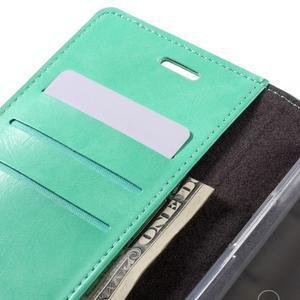Luxury PU kožené puzdro pre mobil LG G5 - cyan - 7