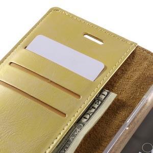 Luxury PU kožené puzdro pre mobil LG G5 - zlaté - 7