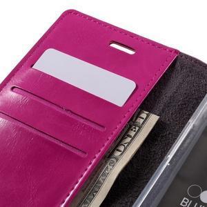 Luxury PU kožené pouzdro na mobil LG G5 - rose - 7