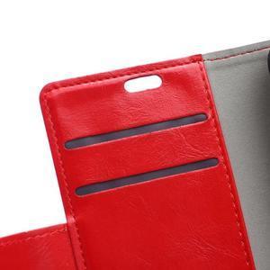 GX koženkové puzdro pre mobil Microsoft Lumia 550 - červené - 7