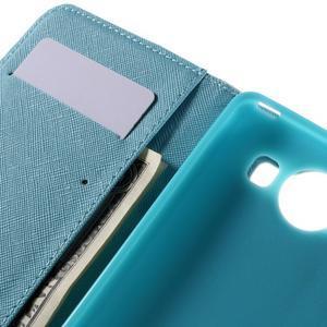 Peněženkové pouzdro na Microsoft Lumia 950 - modrý motýl - 7