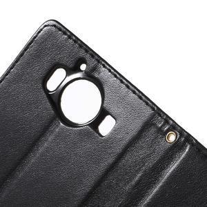 Butterfly PU kožené puzdro pre Microsoft Lumia 950 - čierne - 7