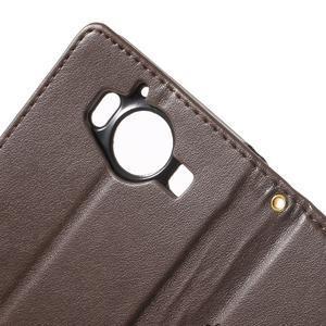 Butterfly PU kožené puzdro pre Microsoft Lumia 950 - coffee - 7