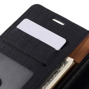 Cloth Peňaženkové puzdro pre mobil Microsoft Lumia 950 - čierne - 7
